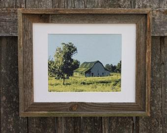 Barn & Cows - Silk Screen Print FOR SALE