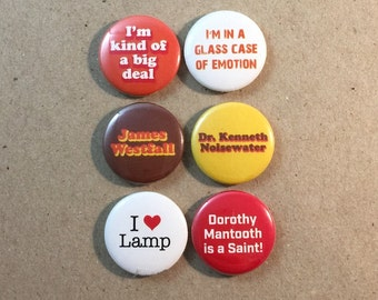 Anchorman I Love Lamp I'm Kind of a Big Deal Fan Art 6 - 1 Inch Button Set
