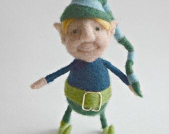 Posable Little Needle Felted Elf