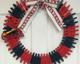 Sale! St. Louis Cardinals inspired wreath