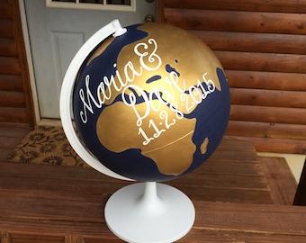 Custom Handpainted Globe