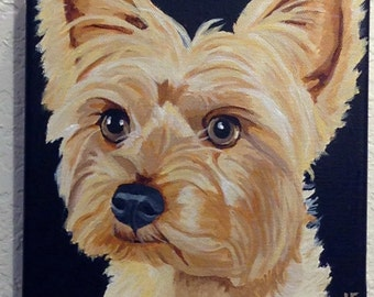 Custom Dog Portrait, Custom Pet Portrait, Pet Painting, Pet Portrait, Pet Lover Gift, Dog Portrait Custom, From Photograph, Pet Memorial,