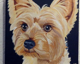 Dog Portrait, Custom Pet Portrait, Pet Painting, Pet Portrait, Hand Painted, Dog Portrait Custom, From Photograph, Memorial Pet Portrait