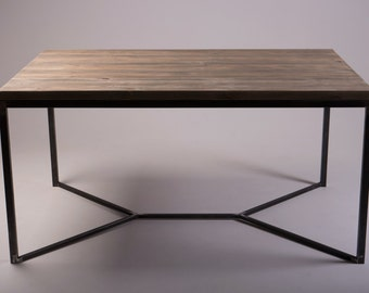 Solid Industrial Dining Table