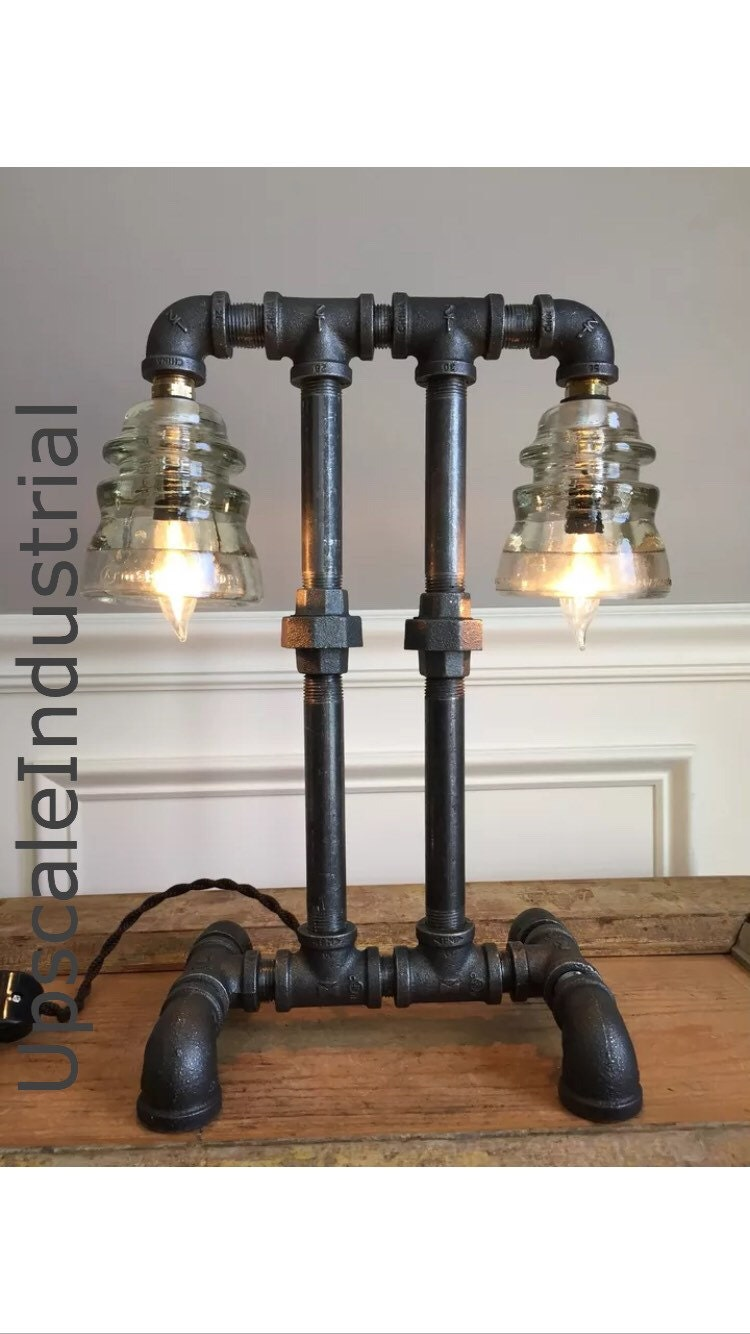Industrial Light Parts : Steampunk lamp industrial lighting pipe