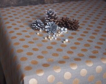 Christmas Linen Tablecloth, Linen table top, Linen table cover, Christmas Tablecloth