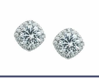 Bridal Earrings, Wedding Earrings, Crystal Earrings, Wedding Jewelry, Bridal Jewelry, Bridesmaids Earrings, White Gold Earrings, Alicia