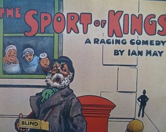 Reproduction Theatre Poster - The Sport of Kings by Ian Hay - 324x496mm