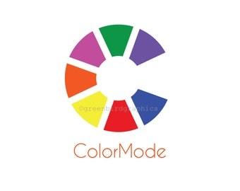 Design Logo, Color Wheel Logo, Interior Design Logo, Painter's Logo, Customizable Premade Logo Design
