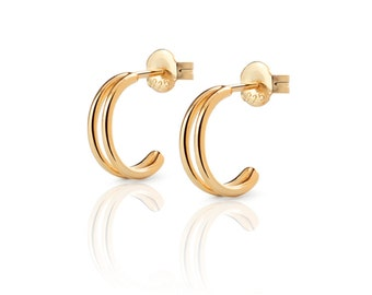 DOUBLE GOLD HOOP