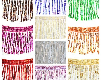 "18""Long SEQUINS FRINGES Many different colors for your choice,"