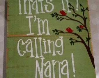 That's it.  I'm calling nana.  Olive/sage green.  Birds in a tree.