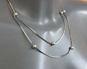 Chain silver 835 necklace with silver balls SK869