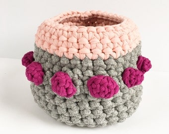Crochet Bobble Basket