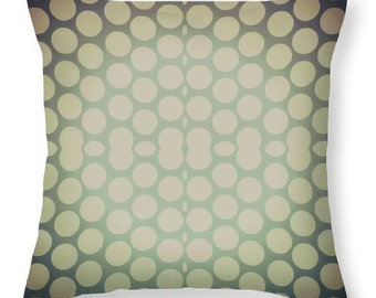 Sage Green Throw Pillow Covers,Green Dotted Throw Pillows,Gold, Sofa,Tan, Polka Dots,Accent Pillow,Couch Cushion,Bedroom Home Interior