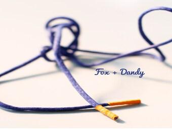 Custom Royal Blue Dress Statement Shoelaces-Men's