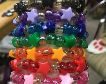 Costom color Shooting star Kandi bracelet