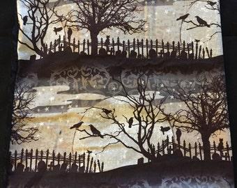 Raven and Graveyard tarot cloth
