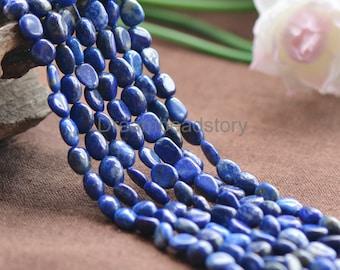 Natural Blue Lapis Lazuli Freedom Pebble Beads, 6*7/ 7*9mm Irregular Loose Gemstone Beads (JY138)