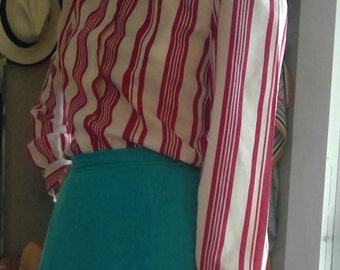 Candy Cane Polyester Blouse