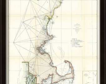 0500-New England Coast Line Nautical Chart