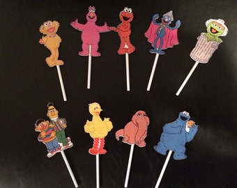 Sesame Street Cup Cake Toppers