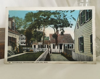 Vintage Provincetown, MA Post Card, Old Provincetown Post Card, Old Cape Cod Photo, 1933