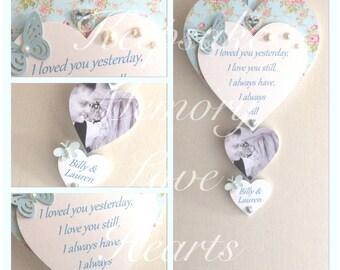 Loved you yesterday, love you still quote gift for couple personalised wooden Keespake Heart