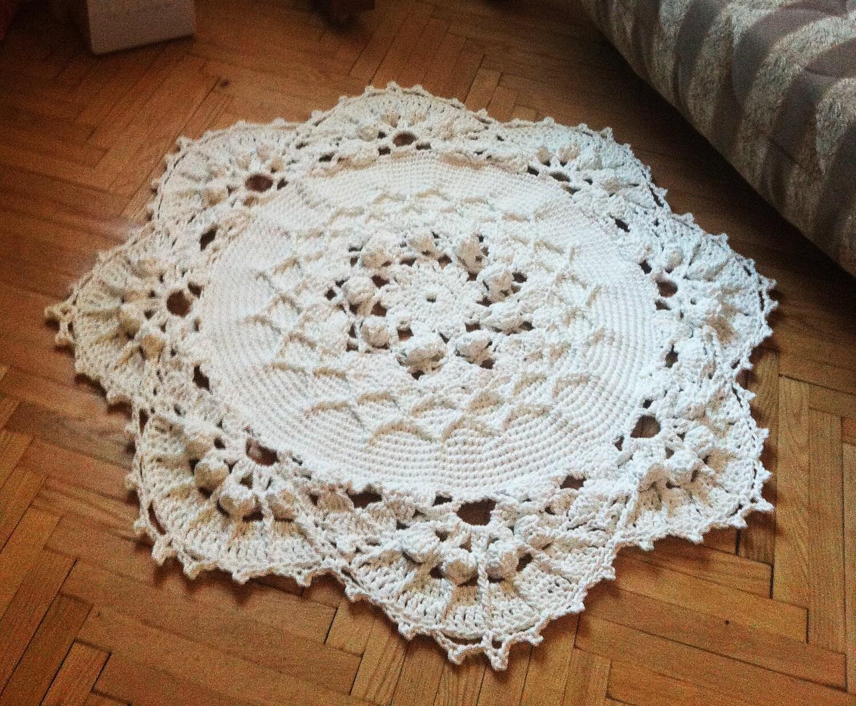 tapis 50 au crochet tapis de b b rond tapis de salle de. Black Bedroom Furniture Sets. Home Design Ideas