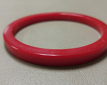 Vintage Red Verified Bakelite Bangle Bracelet