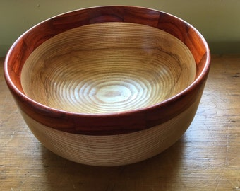 Ash and Padauk Bowl
