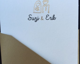 Custom Bride and Groom Cards