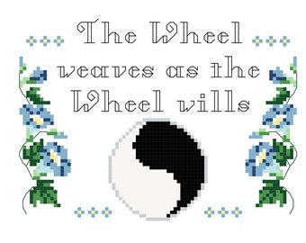 The Wheel Weaves as the Wheel Wills Cross Stitch Pattern