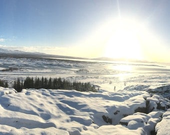 Sunset Photograph - Sunset Photo - Sunset Photography - Iceland Photo - Iceland Photography - Landscape Photography - Winter Home Decor