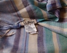 Vintage LL Bean Pashmina Cashmere Scarf Made in India 100% Rayon