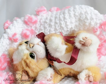 realistic persian cat Teddy Bear friend persian kitten OOAK persian cat Celine