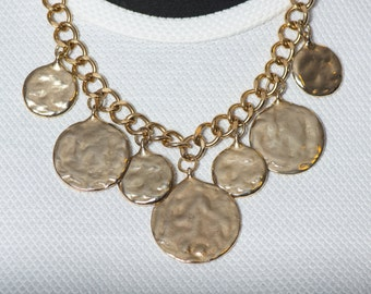 """Model """"coins"""" 250 necklace gold plating coins"""