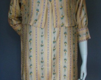 Vintage Antique 1920s/20s Silk DRESS & JACKET Summer Flapper