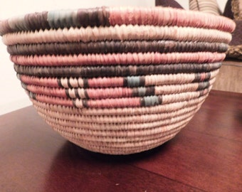 Authentic Indian Hand-Woven Multi-Colored Basket