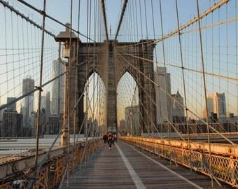 Brooklyn Bridge, New York City, Matted Prints, Brooklyn Print, Brooklyn Bridge Art, New York Wall Art, Deborah Julian