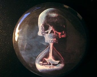 Until Dawn Skull Art Pinback Button