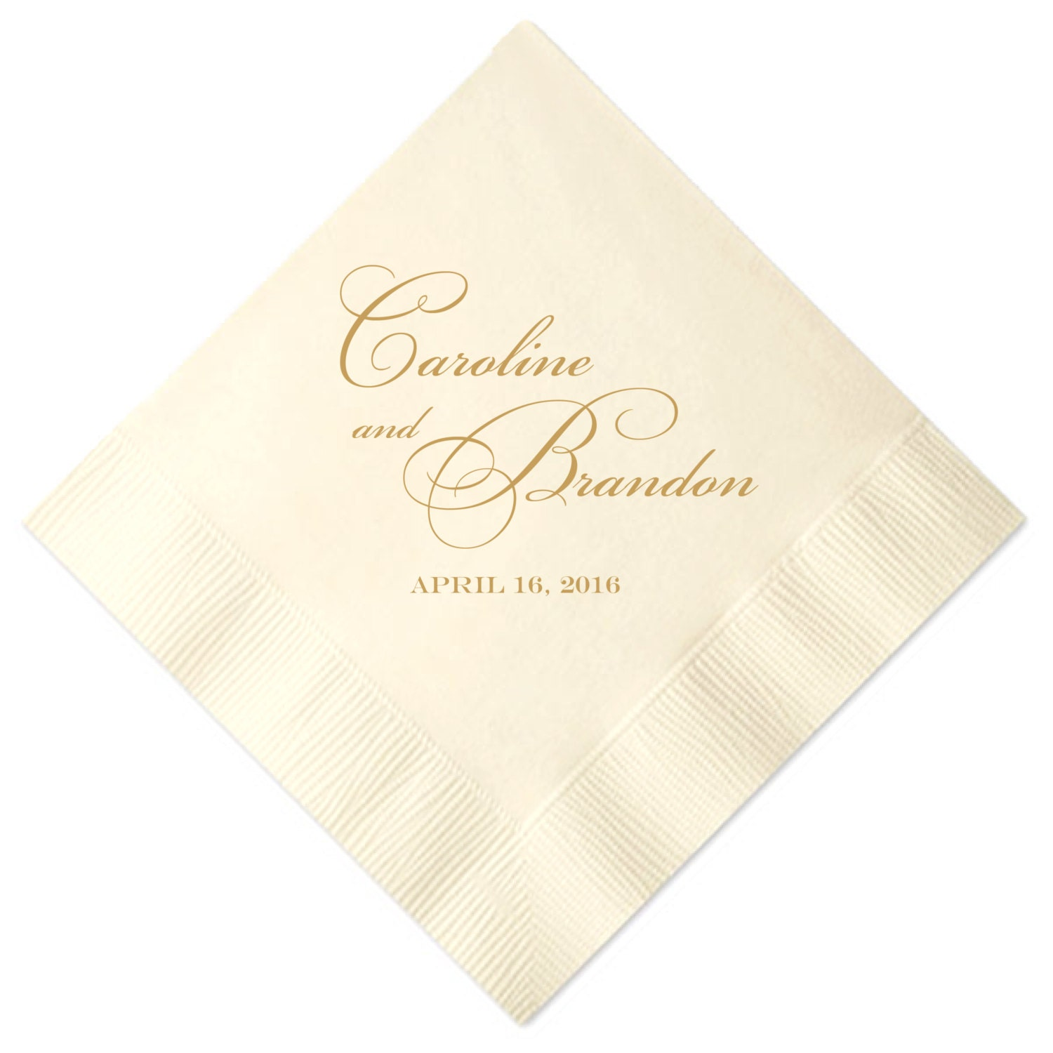 Personalized names wedding napkins for Printed wedding napkins