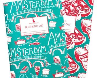 Amsterdam Mini Jotter Set/Mini Notebook Set/Travel Notebook Set/Pocket Notebooks/Clogs Notebook/Clogs/Europe/Amsterdam/Travel/Dutch