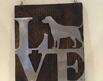 Wall Art- Labrador Retriever Love Silhouette