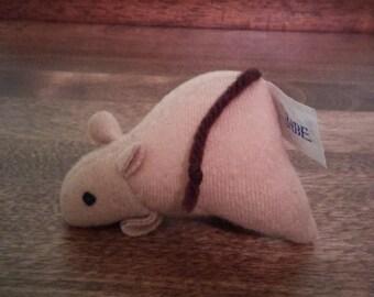 Babe 1995 McDonalds Plush Mouse Toy