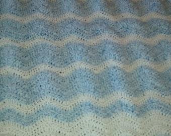 Crocheted Ripple Baby Afghan