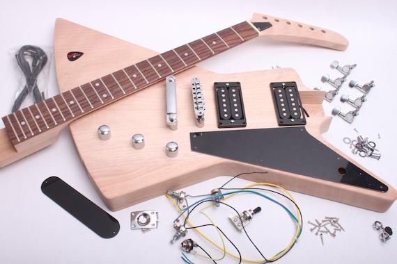 build your own electric guitar kit explorer