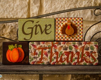 Decorative Thanksgiving Blocks