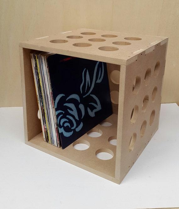12 Vinyl Lp Record Storage Cube Box Crate Shelf Portable