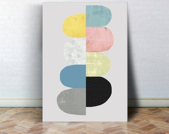Geometrie Kunst Geometrie Poster Aquarell poster abstraktes Poster Skandinavisches Design, abstrakte Kunst, Nordisches Design, Modernes Bild